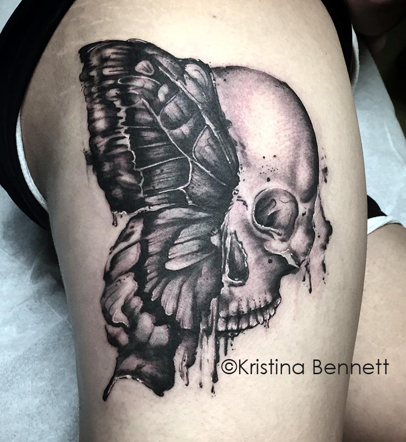 skullerfly tattoo
